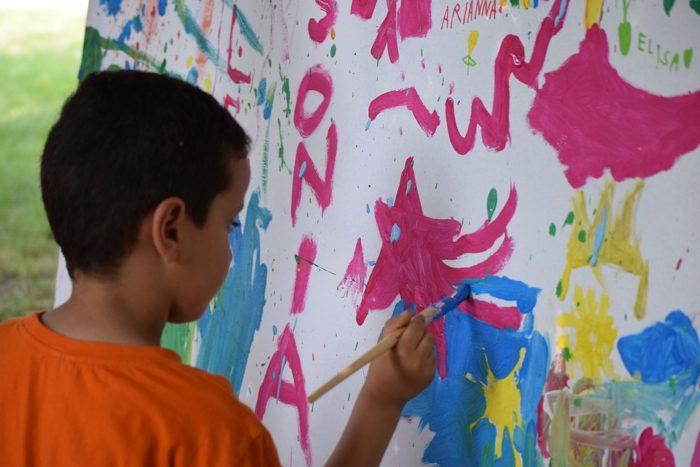 Activité extrascolaire peinture